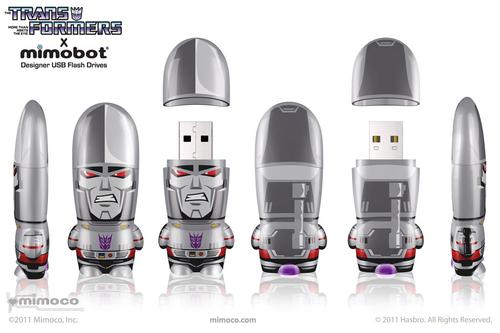 Transformers Megatron and Optimus Prime Mimobot USB Flash Drive