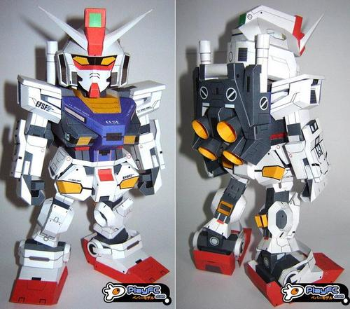 SD RX-78-2 Evolve Gundam Paper Craft