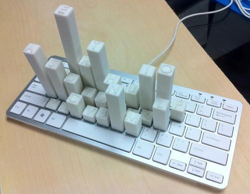 Keyboard Skyscrapers Show You the Frequency of Each Letter