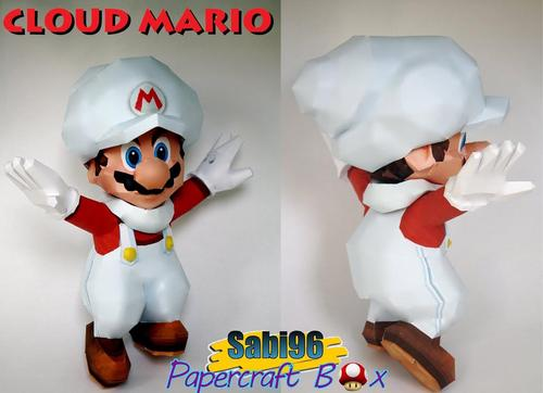 Cloud Mario Paper Craft from Super Mario Galaxy 2