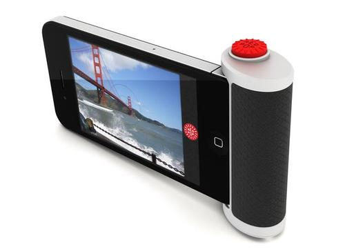 Red Pop Shutter Button for iPhone 4