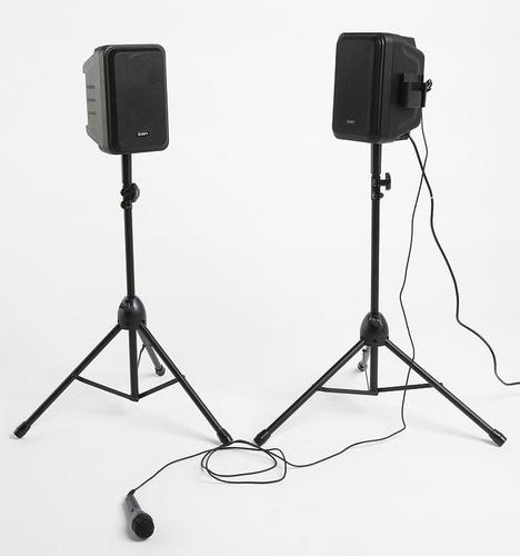 MP3 Amplification Speaker System with Tri-Pod Stands