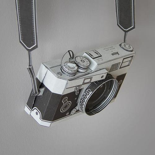 Workable Leica M3 Shaped Pinhole Camera Paper Carft