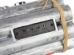Bombshell Styled Portable Speaker with MP3 Player and FM Radio