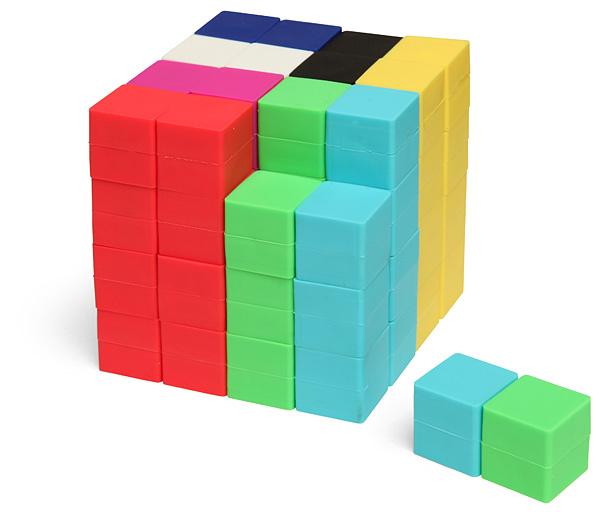 8-Bit Pixel Cube Construction Set