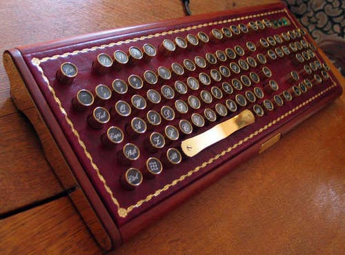 Buccaneer Steampunk Computer Keyboard