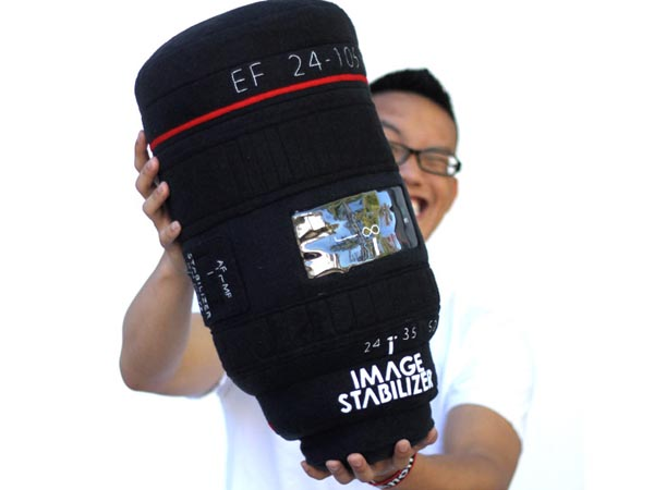 DSRL Camera Lens Styled Pillow