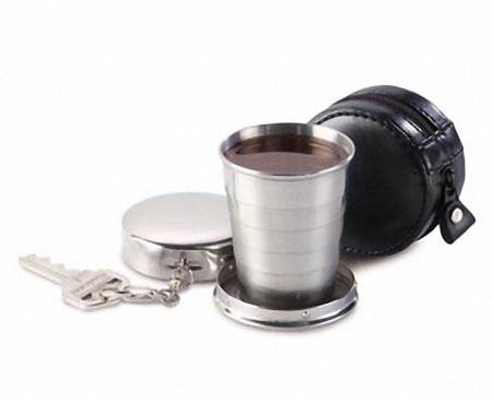 Enjoy Your Drink with Collapsible Shot Glass At Any Time