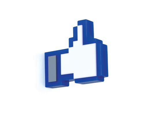 Facebook Like Button Styled Hanger