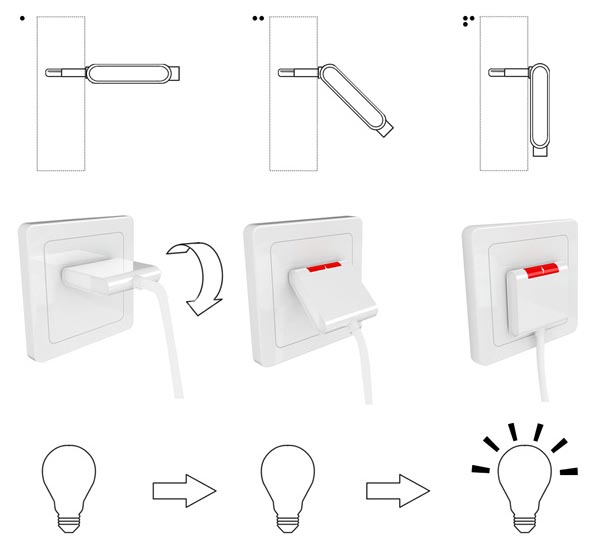Folding-Plug to Save Power and Space