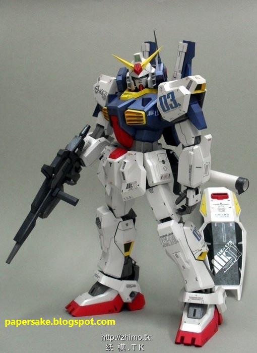 Gundam RX-178 MK-II Paper Craft