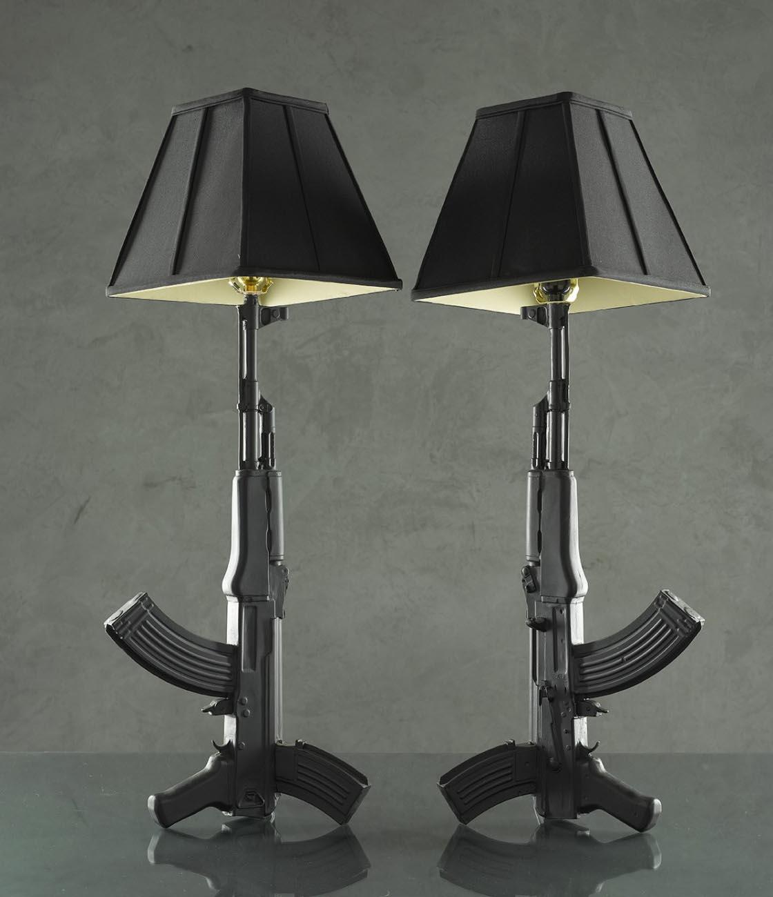 Handmade ak 47 styled table lamp gadgetsin - Handmade table lamp ...