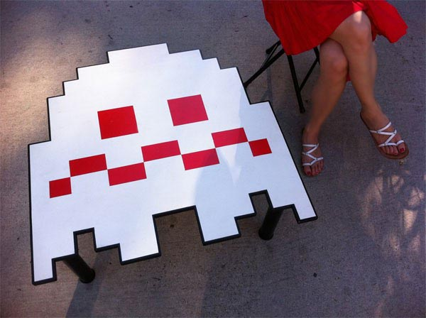 Handmade Pacman Ghost Coffee Table