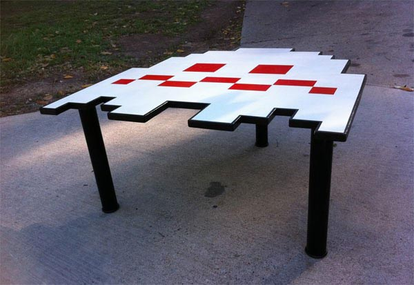 Handmade pacman ghost coffee table gadgetsin Ghost coffee table