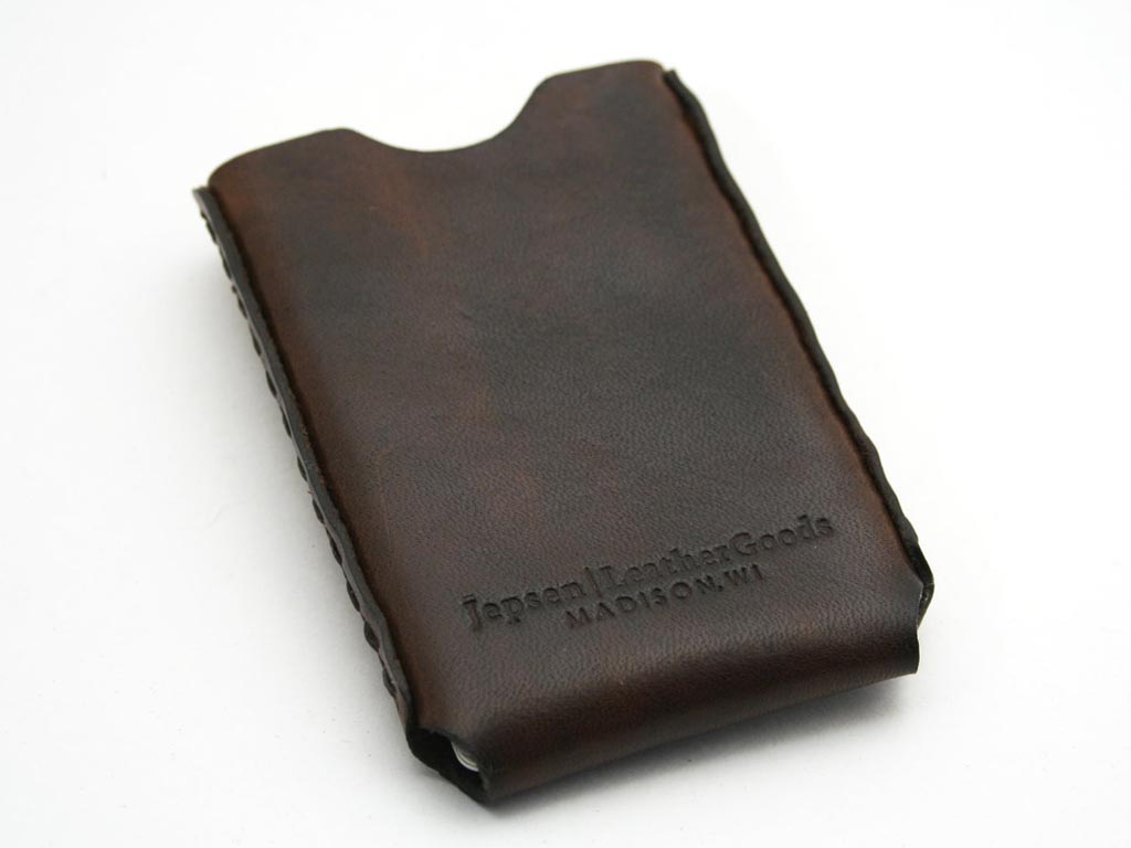 Handmade Windows Leather Business Card Holder | Gadgetsin