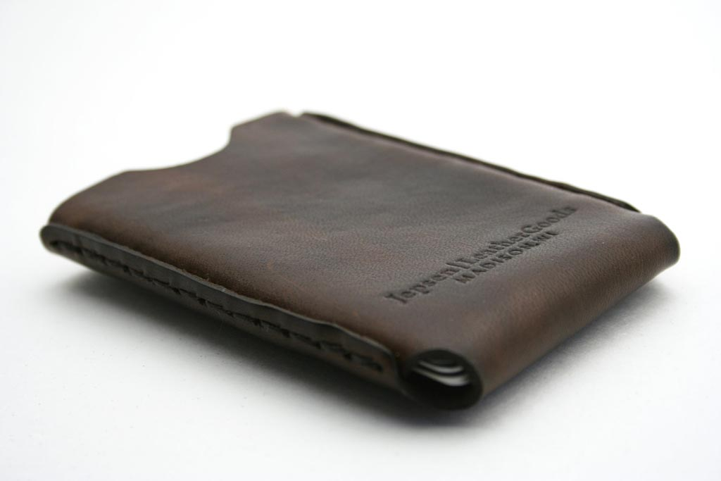 Handmade Windows Leather Business Card Holder