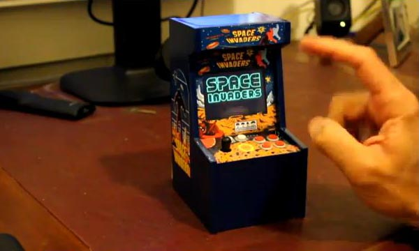 Homemade Space Invaders Mini Arcade Cabinet