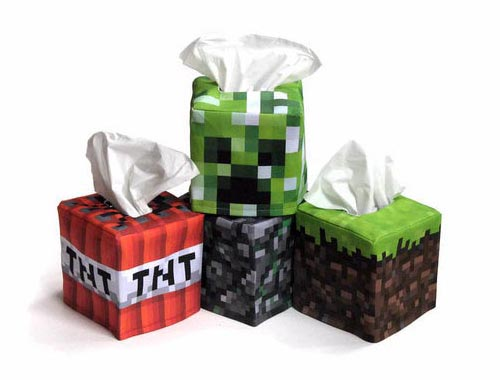 Minecraft Inspired Tissue Box Cover