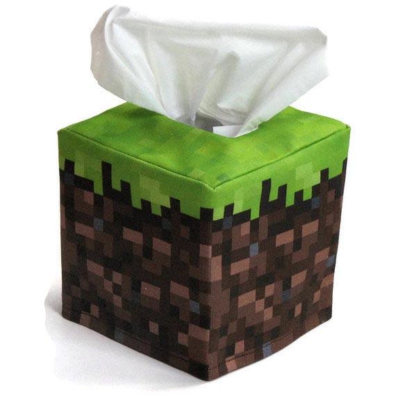 Minecraft inspired tissue box cover gadgetsin for Tissue box cover craft