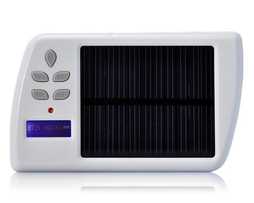 Portable Solar Charger with MP3 Player and FM Transmitter