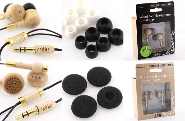Radius Wood Earphones