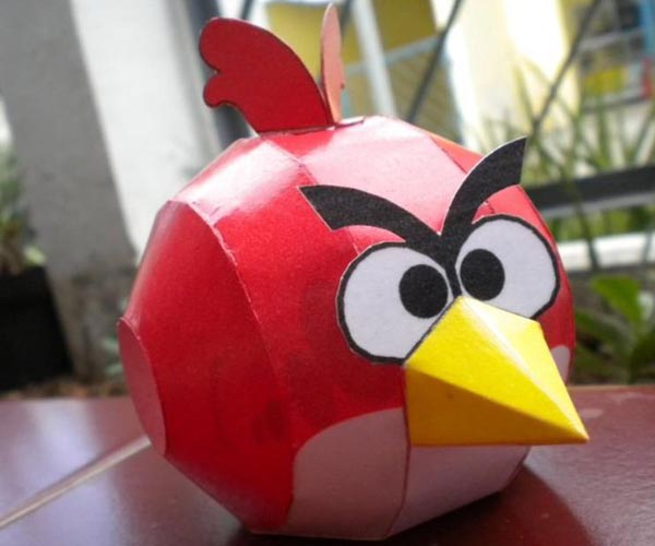 Red and Black Angry Birds Paper Carfts
