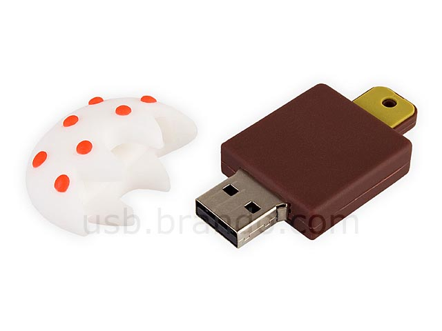 Red Beans Chocolate Popsicle USB Flash Drive