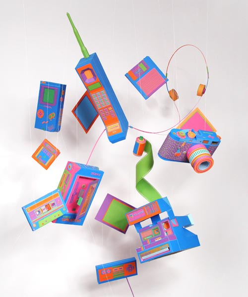 Retro Gadgets Styled Paper Crafts by Zim & Zou