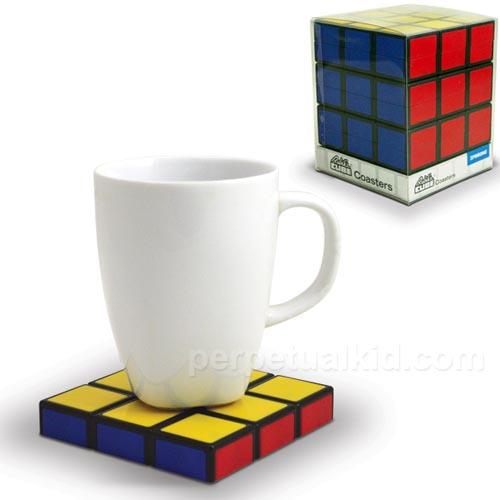 Rubik's Cube Styled Coaster Set