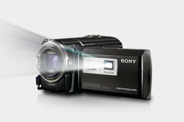 Sony HD Camcorder with Integrated Projector