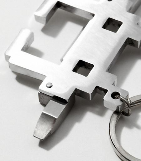 Space Intruder Multi-Tool Keychain
