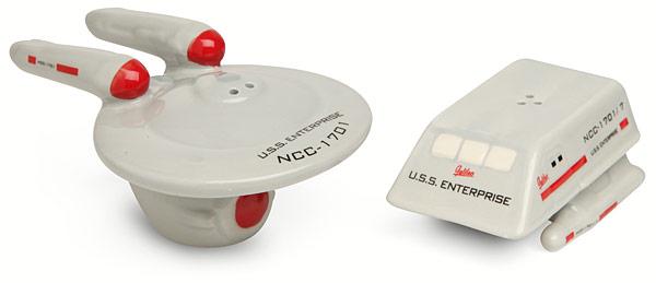 Star Trek Enterprise and Shuttle Salt and Pepper Shakers