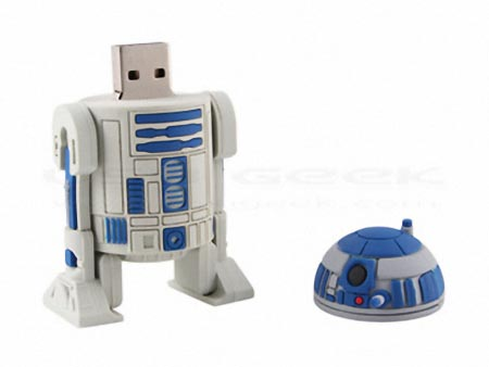 star wars r2 d2 usb flash drive gadgetsin. Black Bedroom Furniture Sets. Home Design Ideas