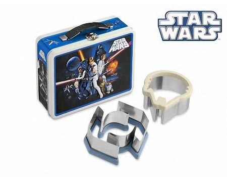 Star Wars Sandwich Cutters with Limited Edition Vintage Styled Tin