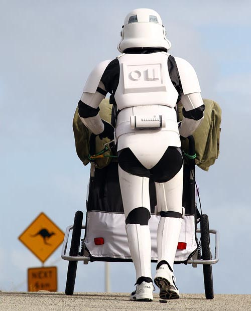Stormtrooper Walking Across Australia