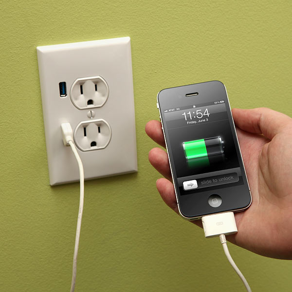 U-Socket Wall Outlet with Two USB Ports