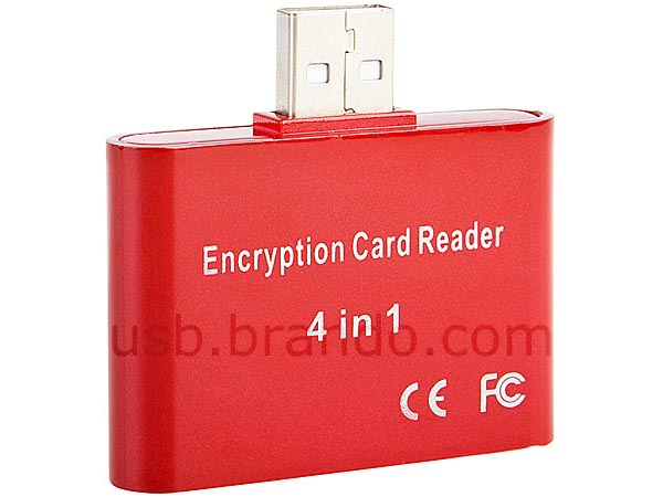 USB Card Reader with Encryption Feature
