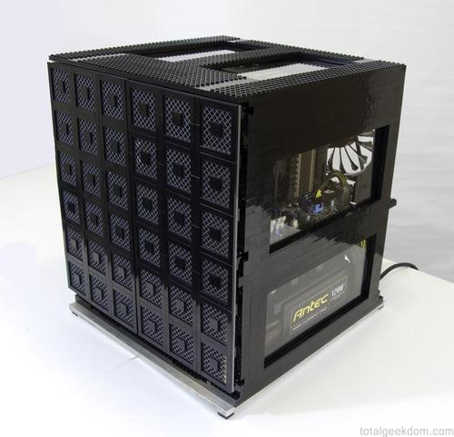 Mike's Computer Case Built with LEGO Bricks