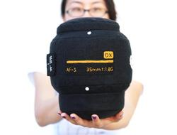 DSLR Camera Lens Styled Pillow