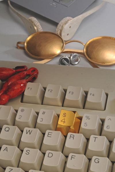 A Jewel Gold Key $4 for Your Computer Keyboard