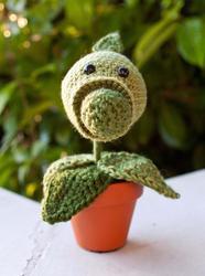 Amigurumi Plants Vs Zombies : Plants vs Zombies Pea Shooter Amigurumi Gadgetsin