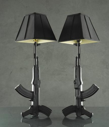 Handmade AK-47 Styled Table Lamp