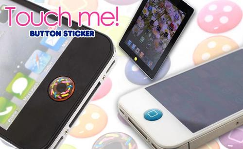 Touch Me! Home Button Stickers for iPhone, iPod Touch and iPad