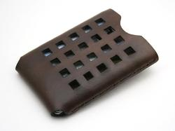 Handmade Windows Leather Business Card Holder