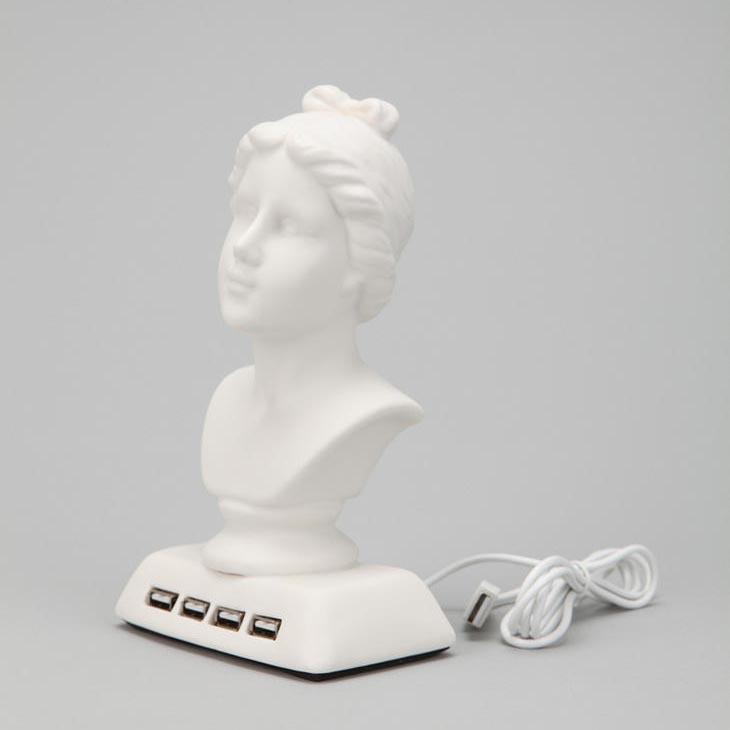 Aphrodite Bust Shaped Usb Hub Gadgetsin