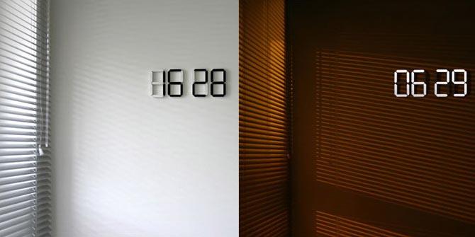 Black & White Digital Wall Clock