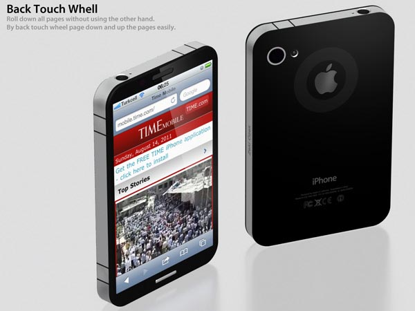 Concept iPhone 5 with Fingerprint Scanner