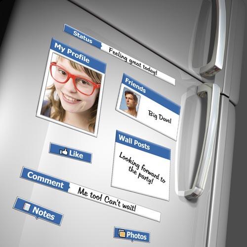 Facebook Themed Fridge Magnet Set