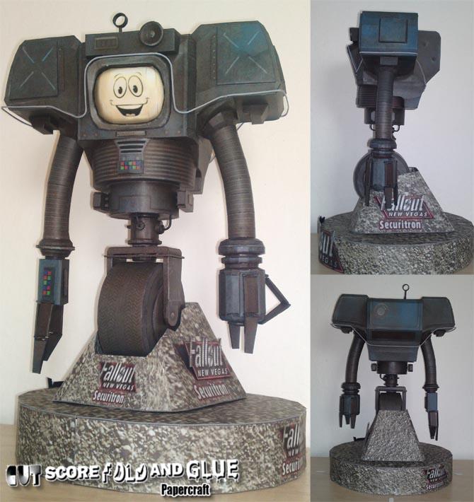 Fallout New Vegas Yes Man Paper Craft | Gadgetsin