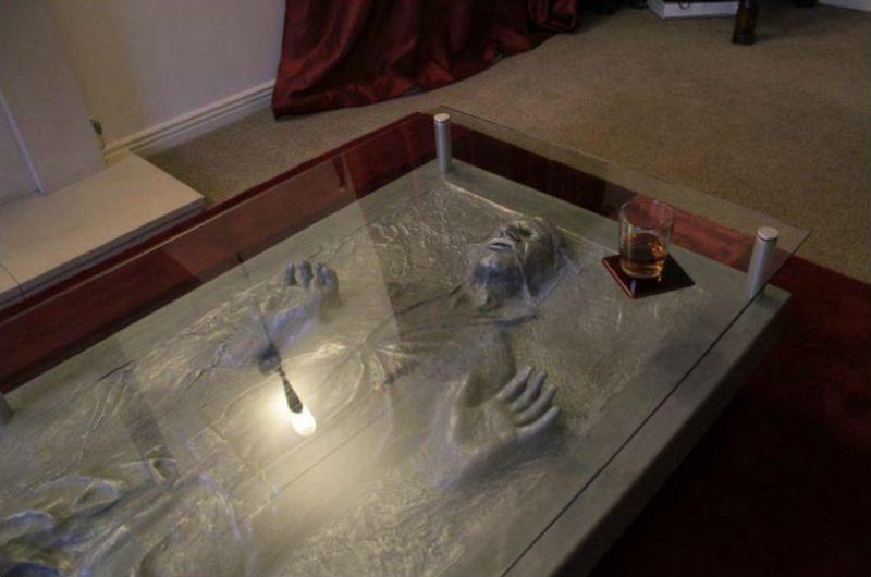 Han Solo in Carbonite Coffee Table - Han Solo In Carbonite Coffee Table Gadgetsin
